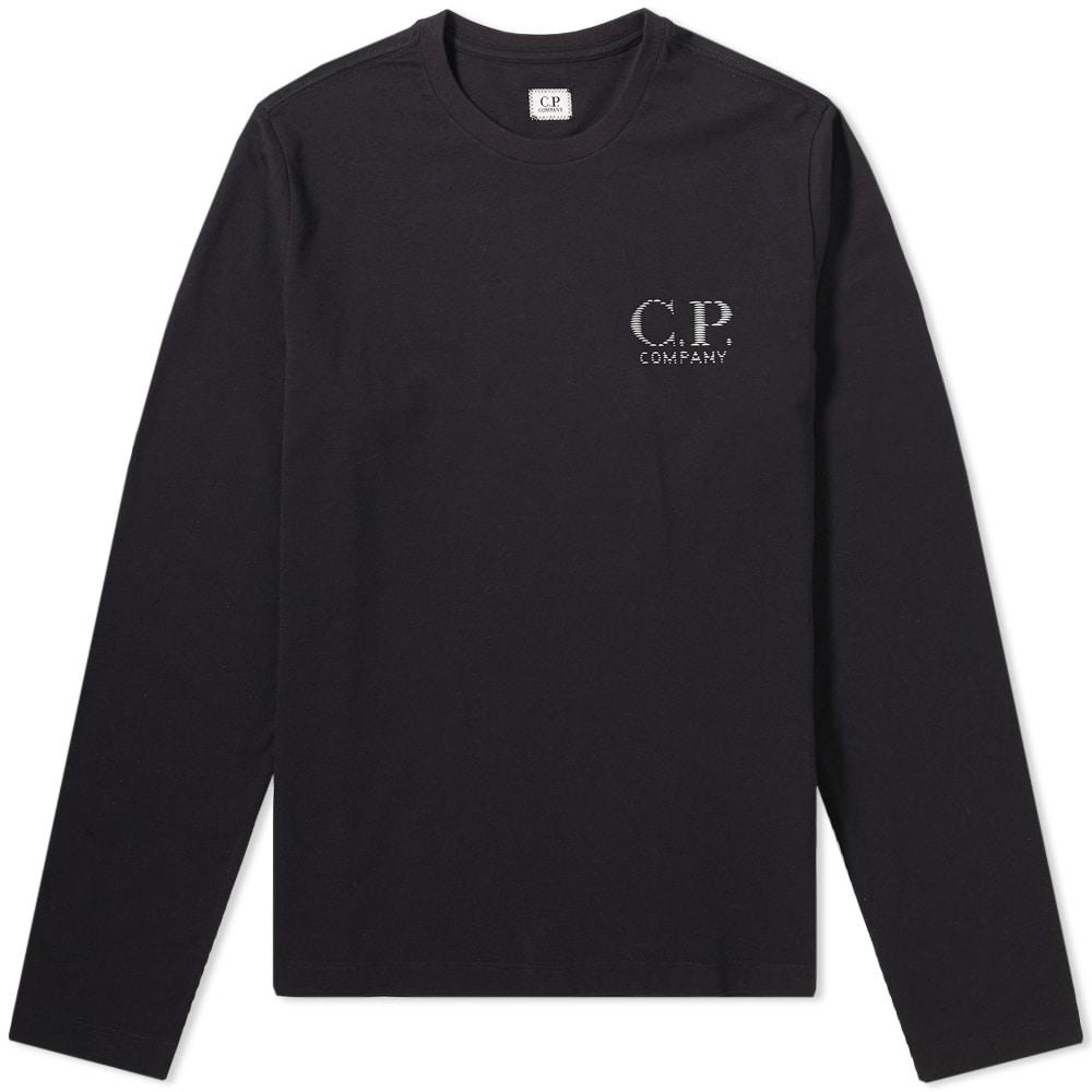 Photo: C.P. Company Long Sleeve Reflective Logo Tee Black