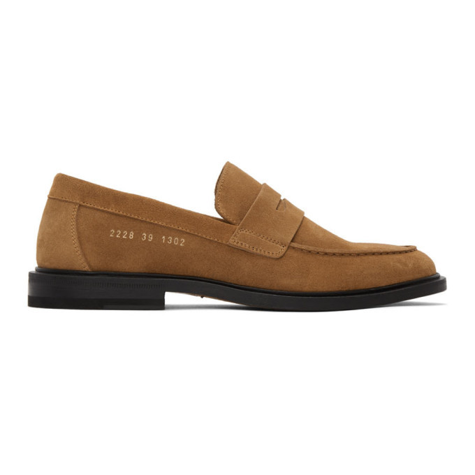 Photo: Common Projects Tan Suede Loafers