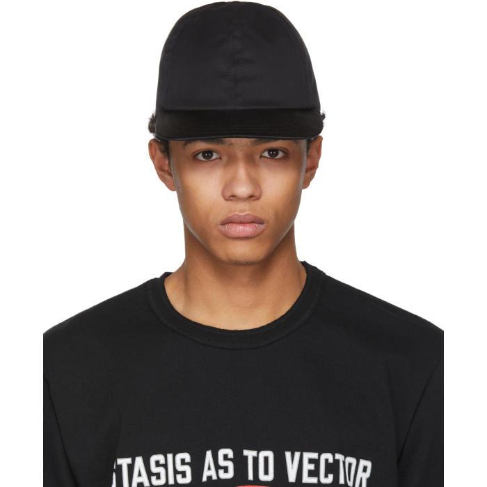 Sacai Black Summer Wool Cap