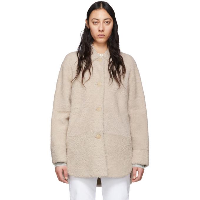 Photo: Isabel Marant Reversible Off-White Shearling Sarvey Coat