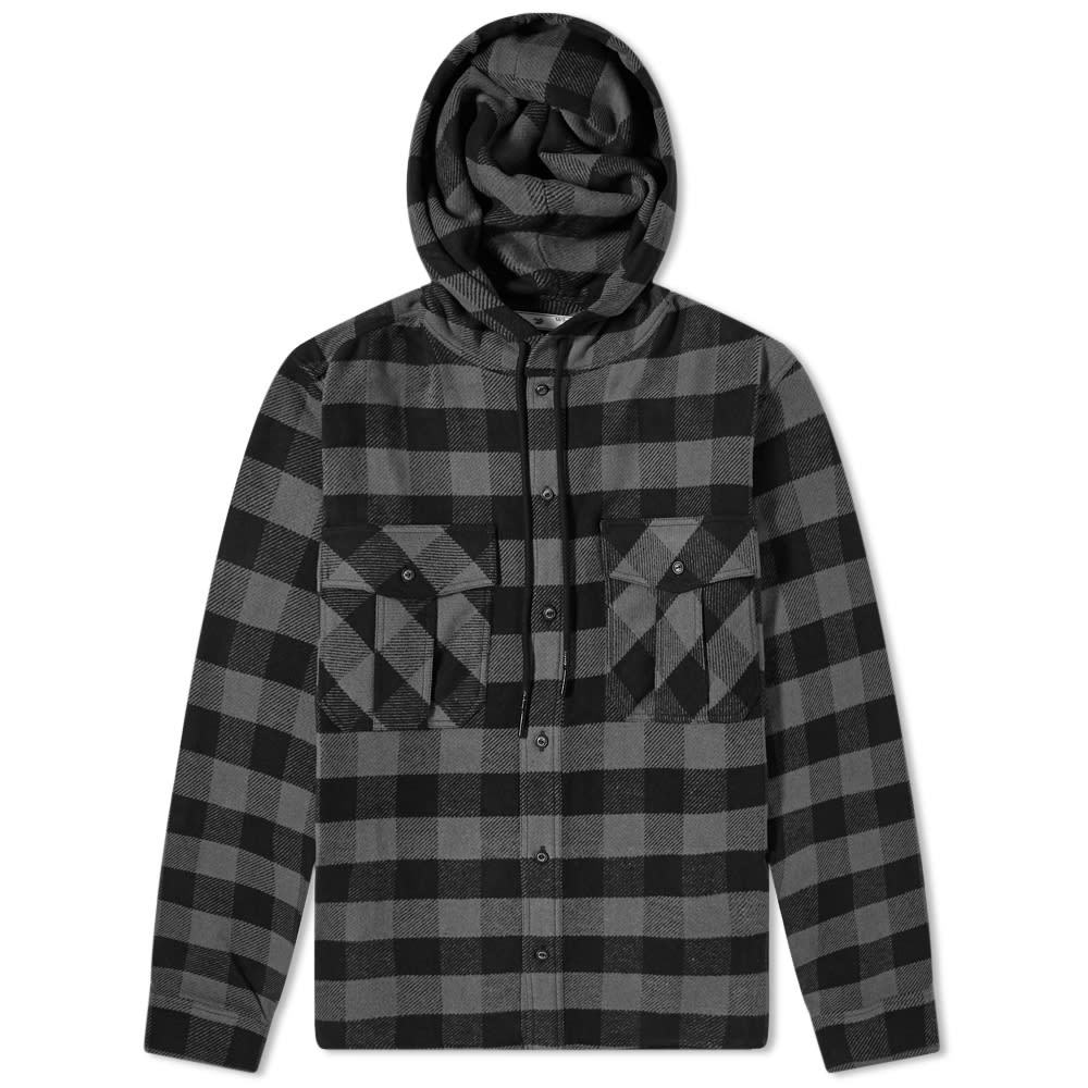 Photo: Off-White Arrow Hooded Flannel Shirt
