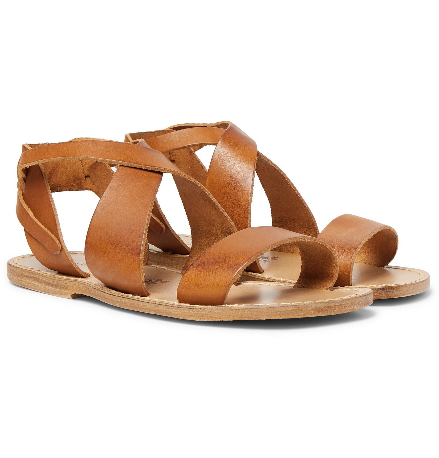 Photo: Officine Generale - Positano Leather Sandals - Brown