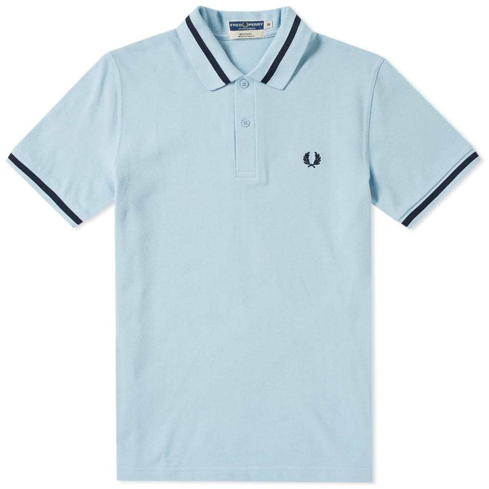 Photo: Fred Perry Reissues Original Single Tipped Polo Blue