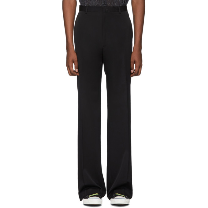 Photo: Lanvin Black Wool Wide Trousers