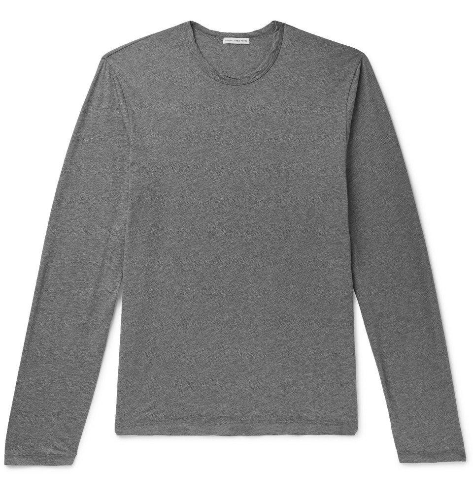 Photo: James Perse - Mélange Cotton and Cashmere-Blend Jersey T-Shirt - Gray