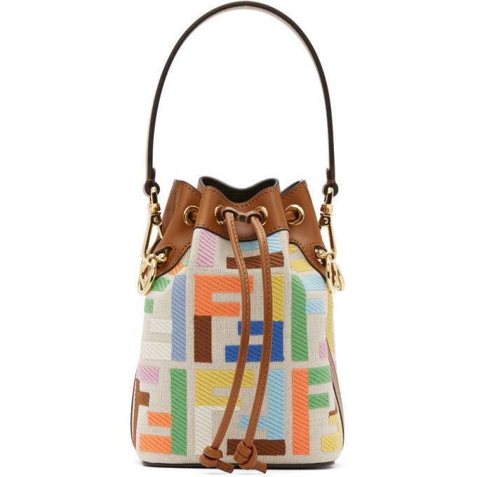 Photo: Fendi Multicolor Canvas Forever Fendi Mini Mon Tresor Bag