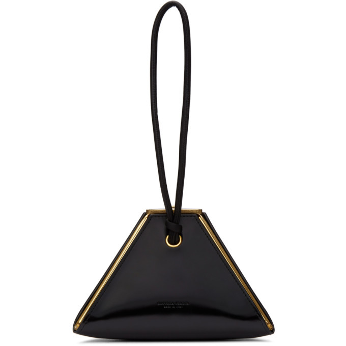 Photo: Bottega Veneta Black Pyramid Clutch