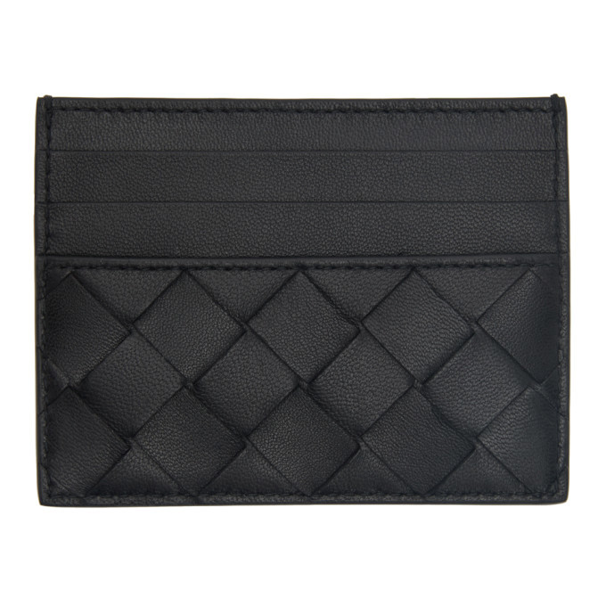 Photo: Bottega Veneta Black Intrecciato Card Holder
