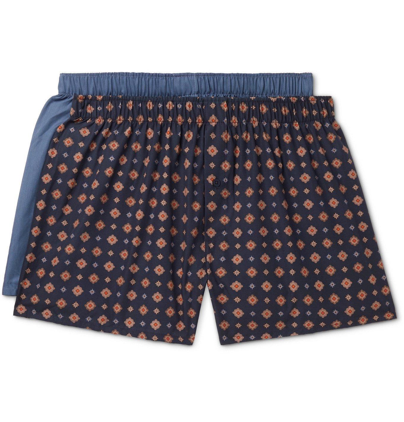 Hanro - Two-Pack Cotton-Poplin Boxer Shorts - Multi