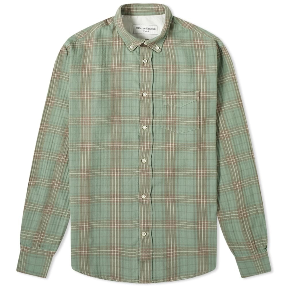 Photo: Officine Generale Button Down Japanese Ombre Check Shirt