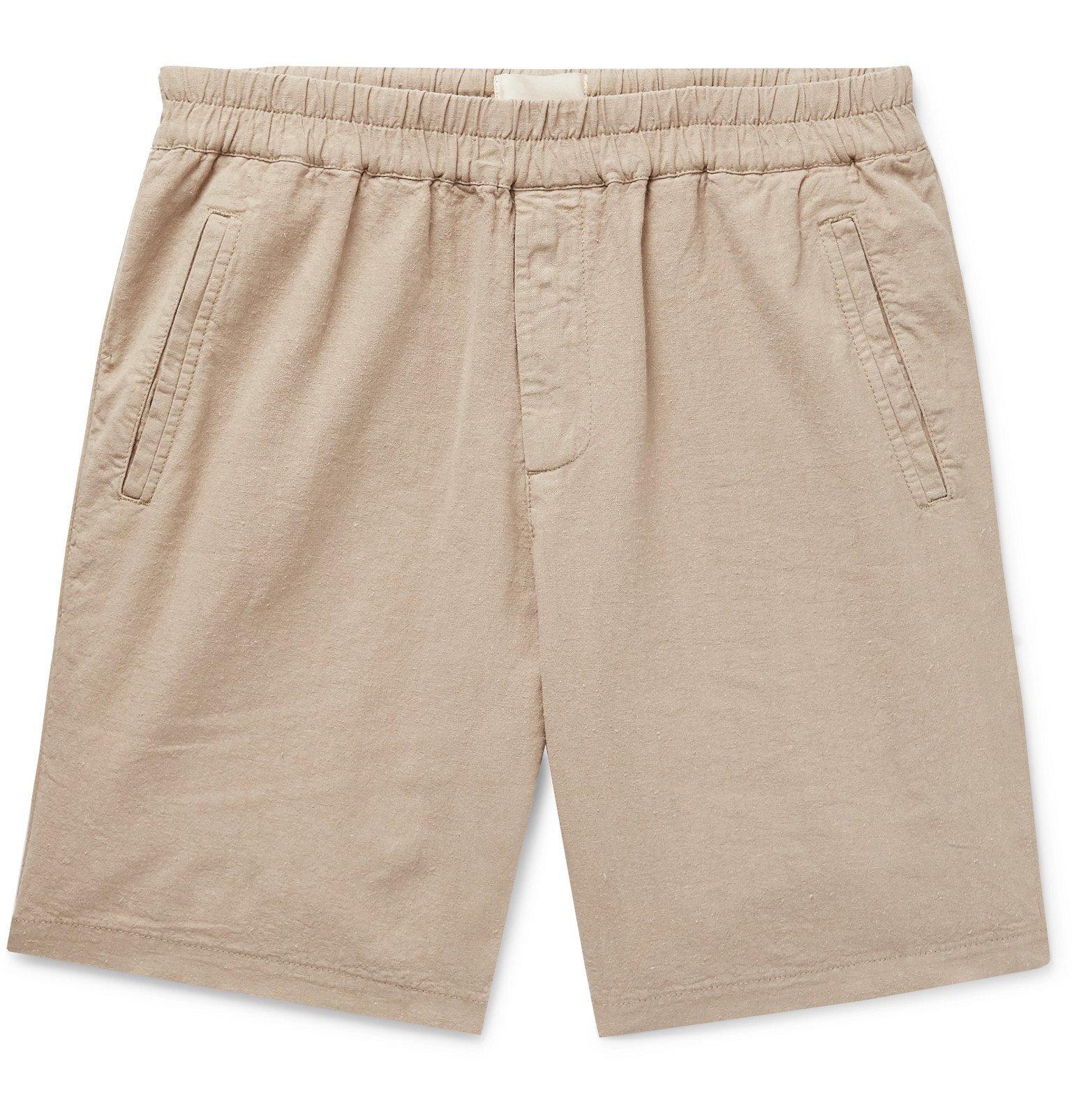 Photo: Folk - Linen and Cotton-Blend Shorts - Neutrals