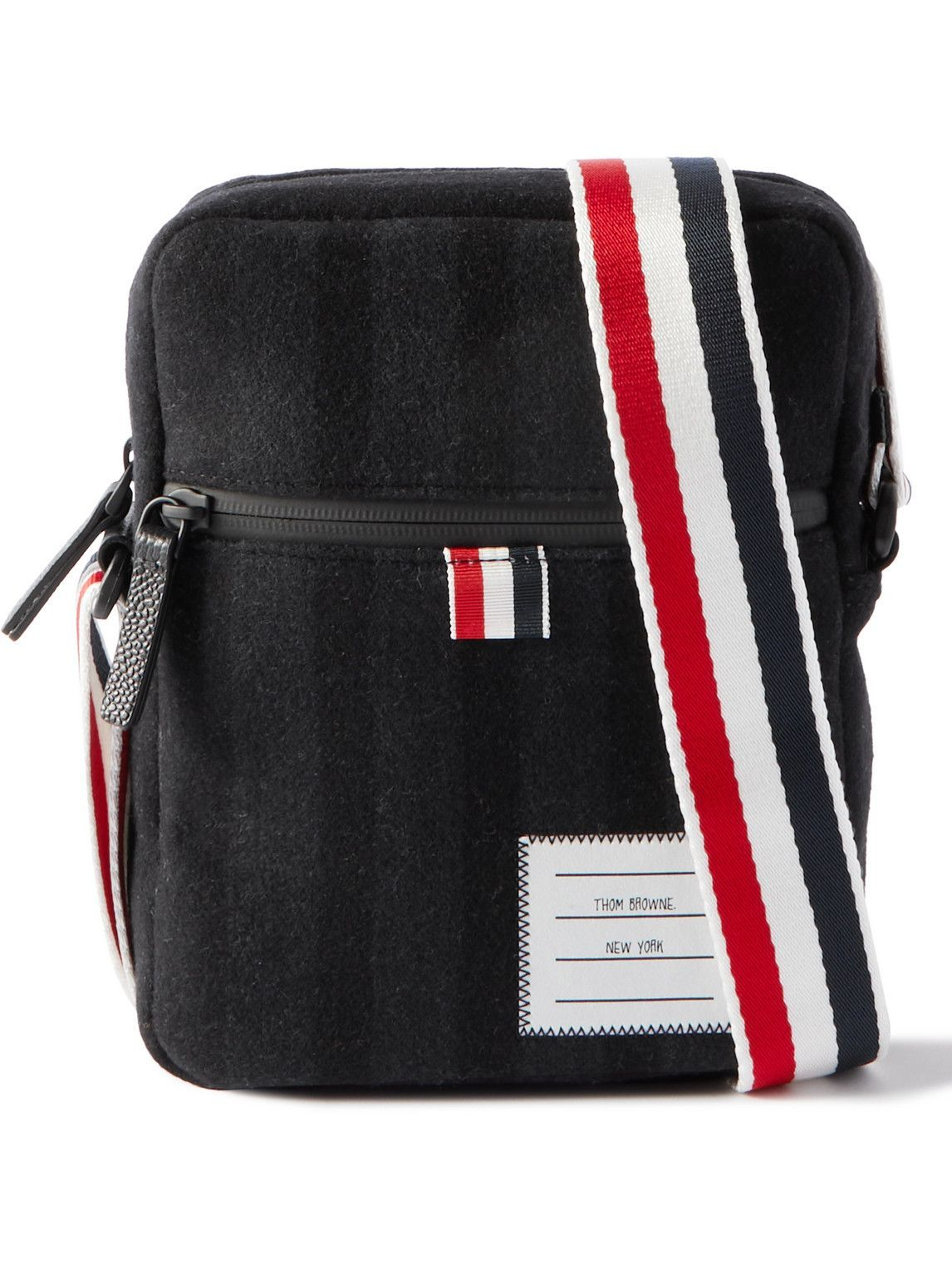 Photo: Thom Browne - Melton Wool and Cashmere-Blend Messenger Bag