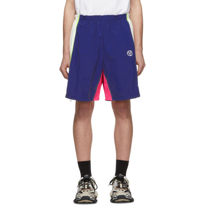 Photo: VETEMENTS Blue and White 90s Tracksuit Shorts