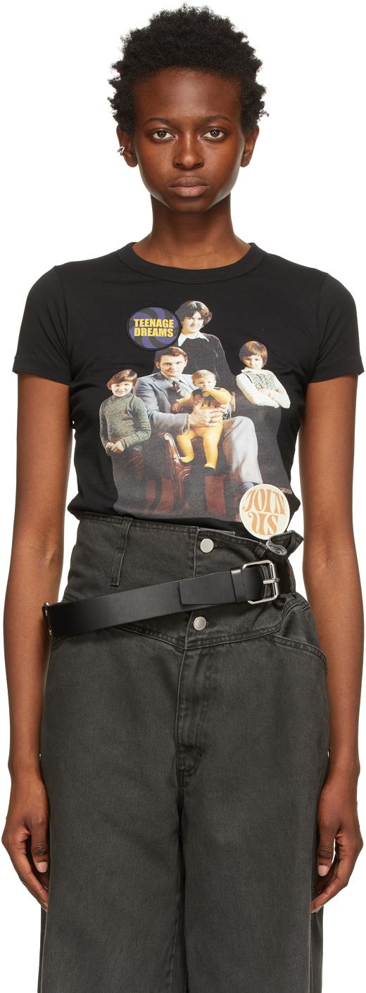 Photo: Raf Simons Black 'Family Portrait' T-Shirt