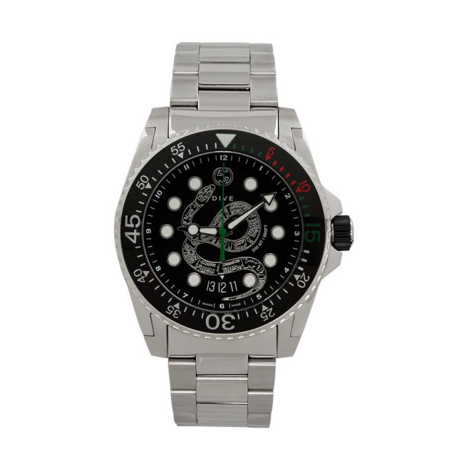 Photo: Gucci Silver Dive Snake Watch