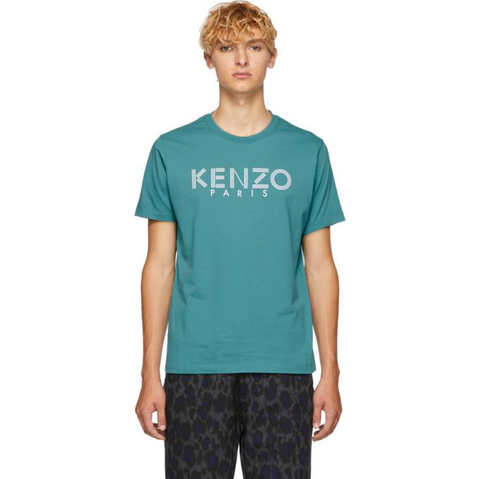 Photo: Kenzo Blue Logo T-Shirt