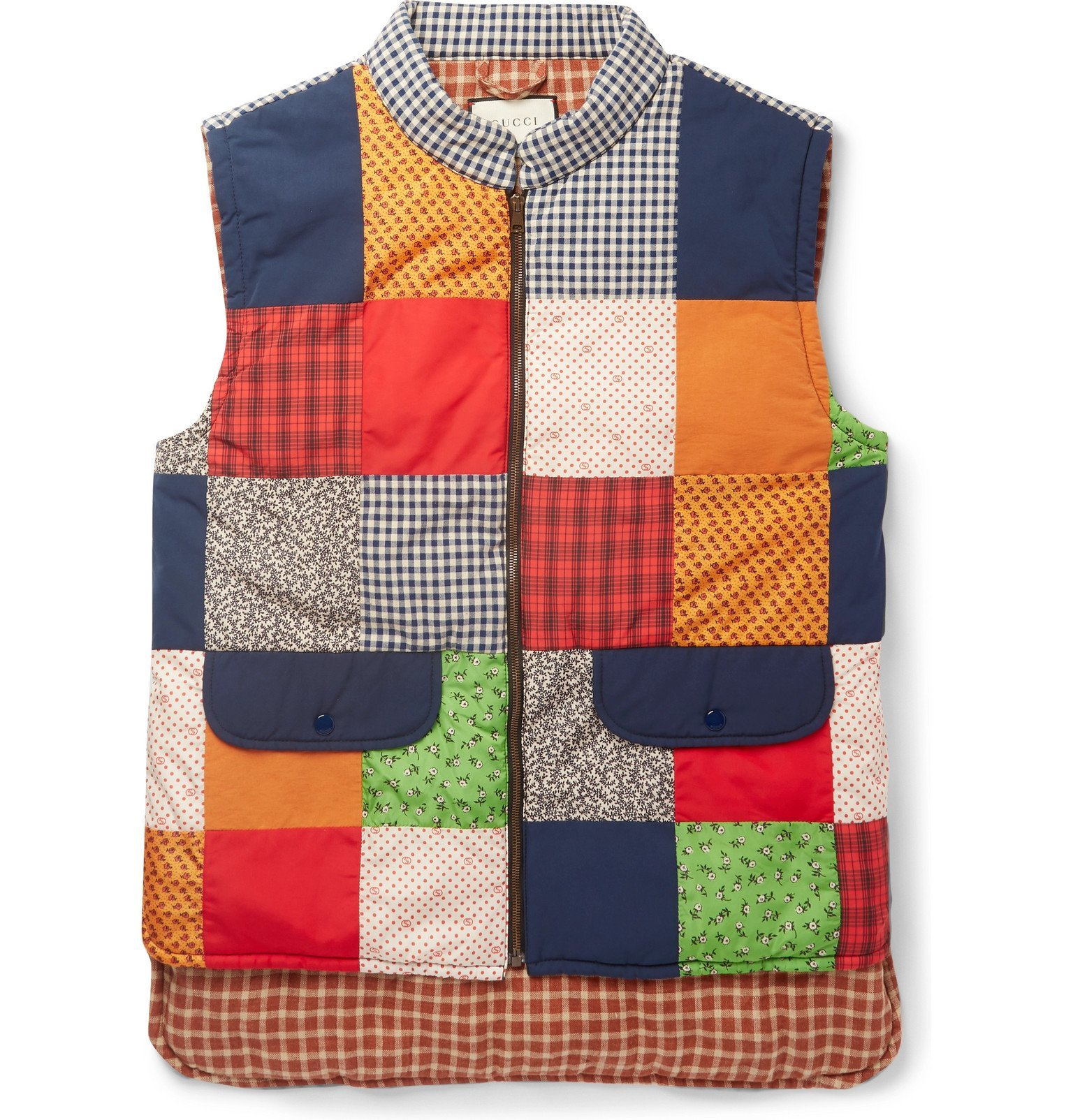 Photo: Gucci - Padded Patchwork Canvas, Shell and Cotton-Blend Gilet - Multi
