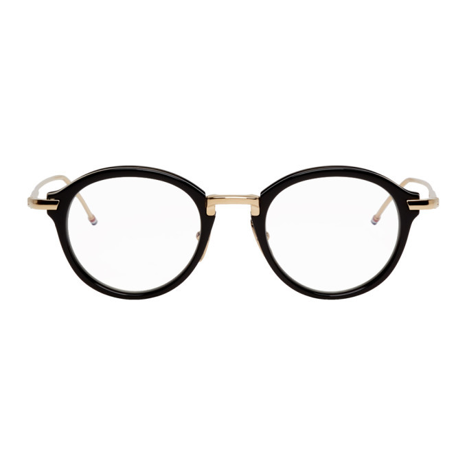 Photo: Thom Browne Black and Gold Round Glasses