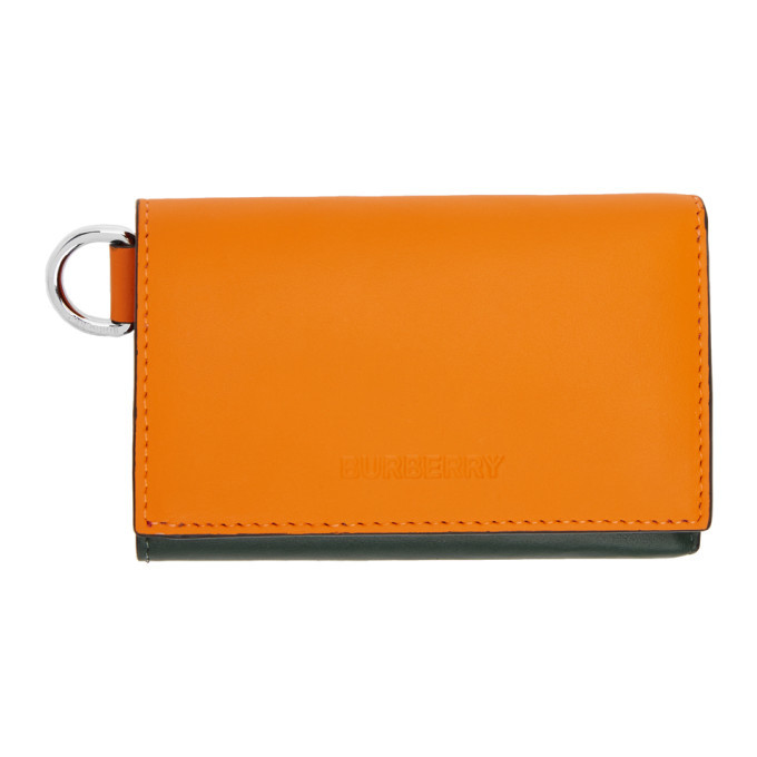 Photo: Burberry Green and Orange Finn Wallet