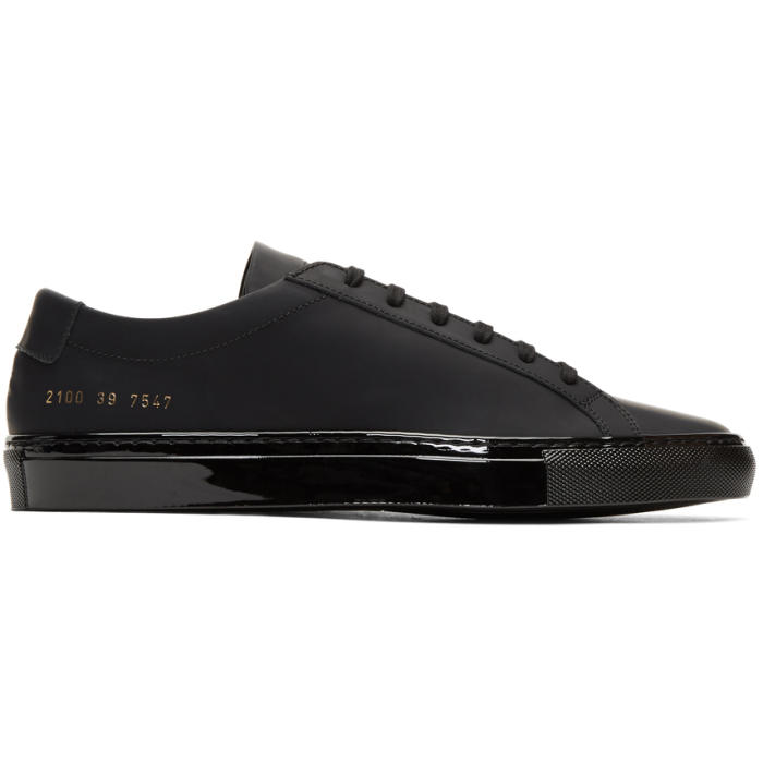 Common Projects Black Achilles Luxe Sneakers