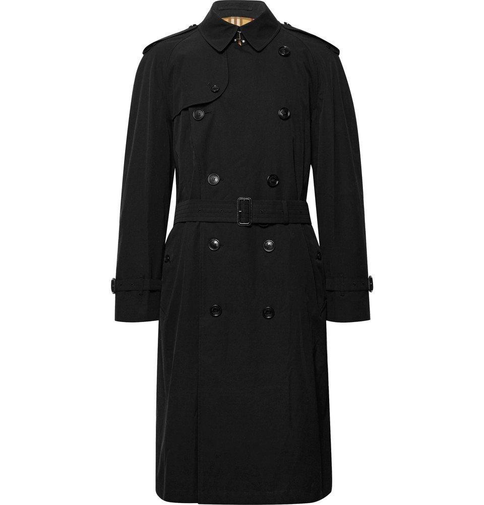 Photo: Burberry - Westminster Cotton-Gabardine Trench Coat - Men - Black