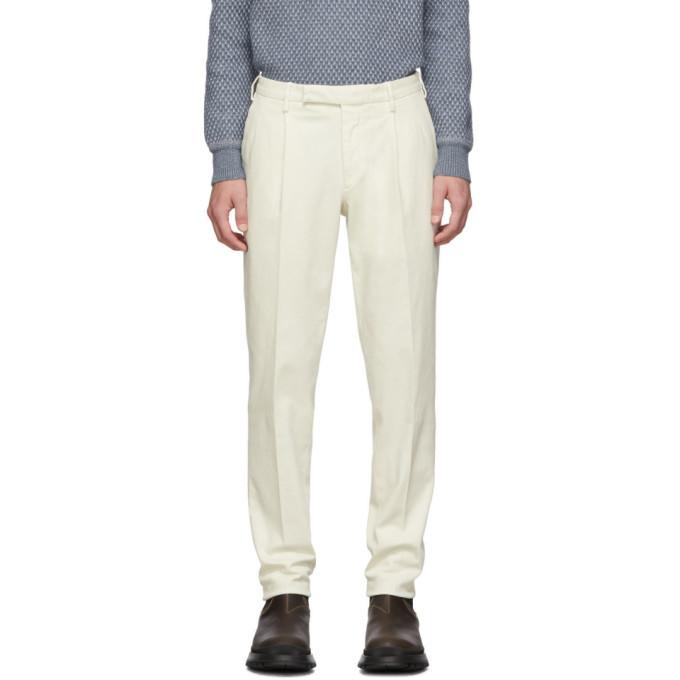 Photo: Ermenegildo Zegna Off-White Garment-Dyed Trousers