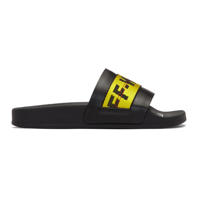 Photo: Off-White Black and Yellow Industrial Slides