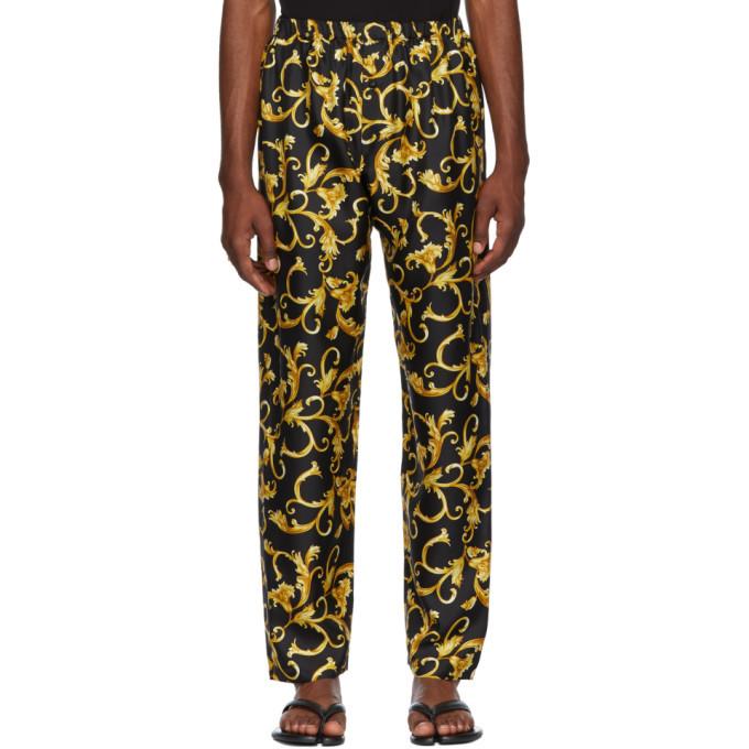 Photo: Versace Underwear Black and Gold Printed Pyjama Trousers