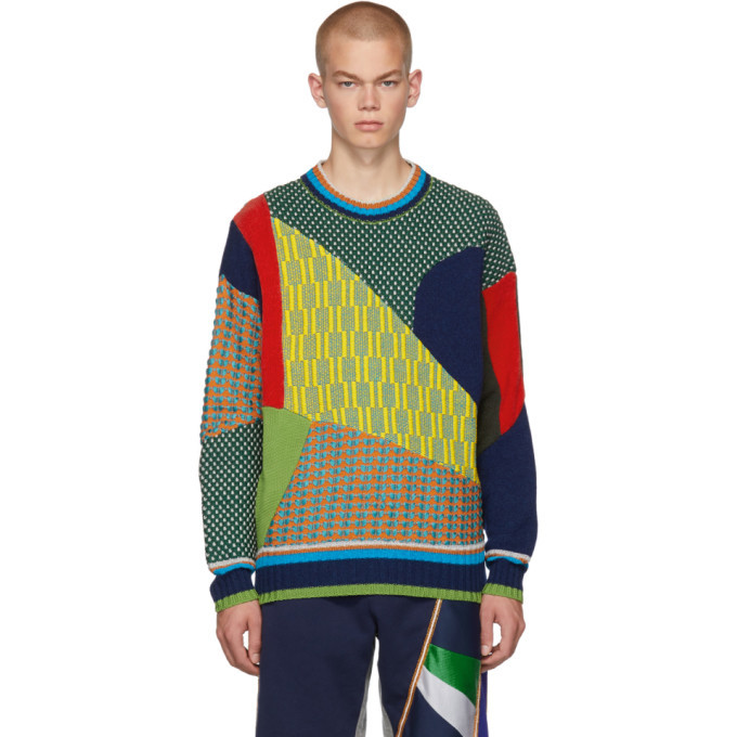 Photo: Ahluwalia Studio Multicolor AGR Edition Knit Sweater