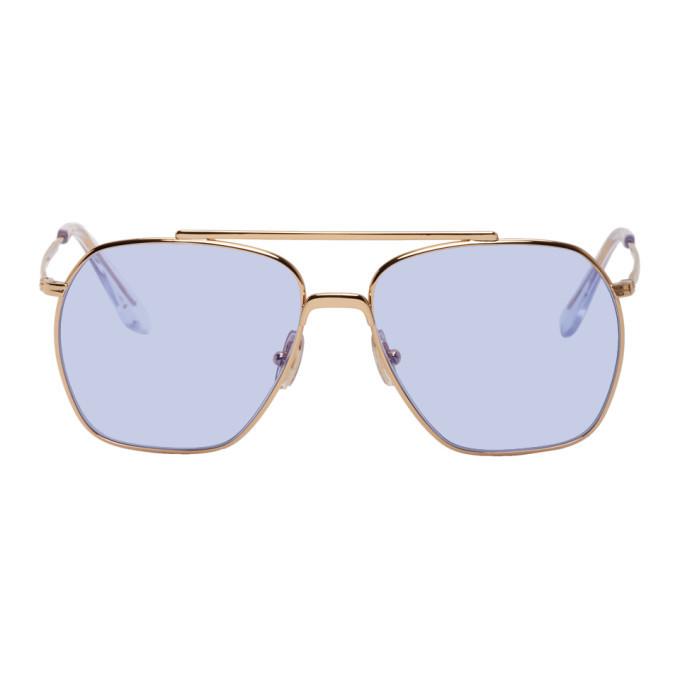 Photo: Acne Studios Gold Anteom Sunglasses