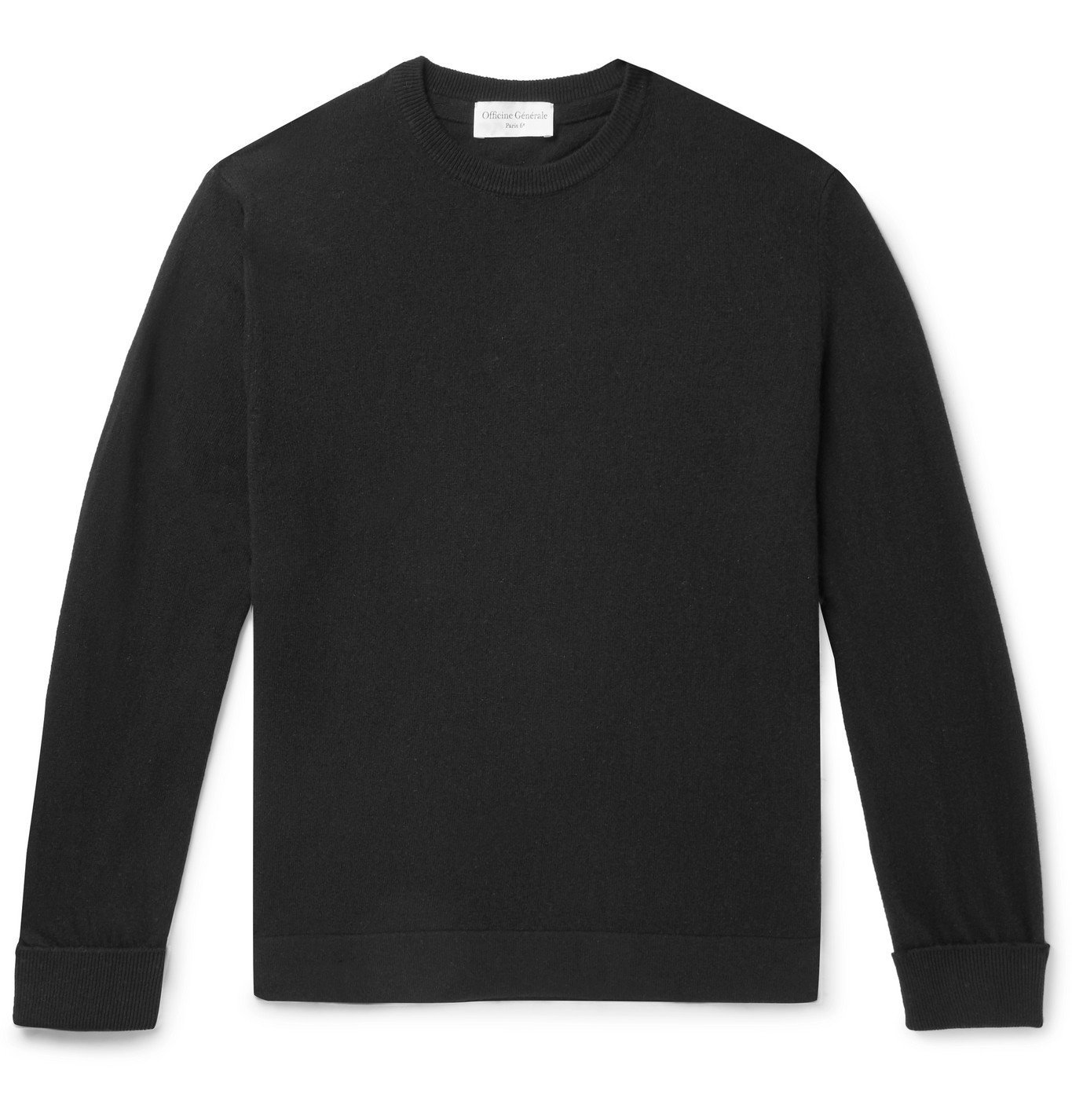 Photo: Officine Generale - Nina Cashmere Sweater - Black