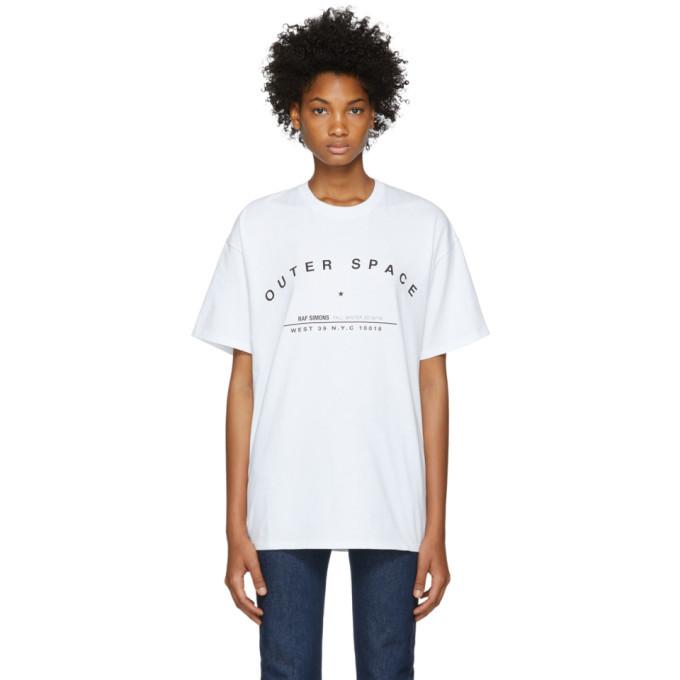 Raf Simons White Tour Regular Fit T-Shirt