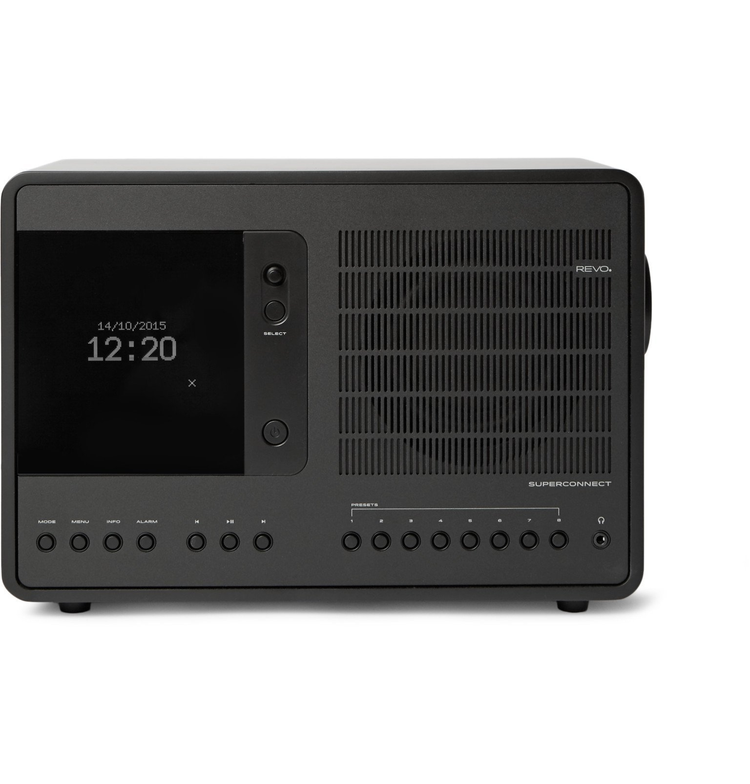 Photo: Revo - SuperConnect Aluminium WiFi/DAB/DAB/FM Table Radio - Black