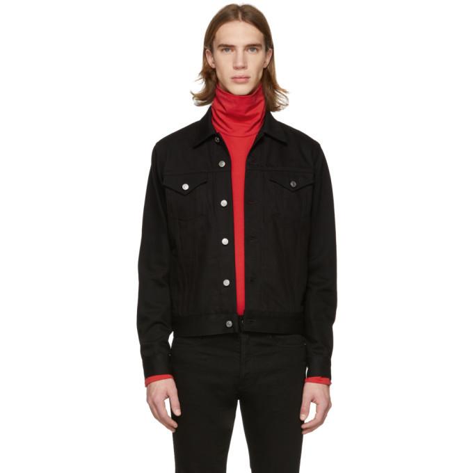 Photo: Givenchy Black Denim 4G Webbing Jacket
