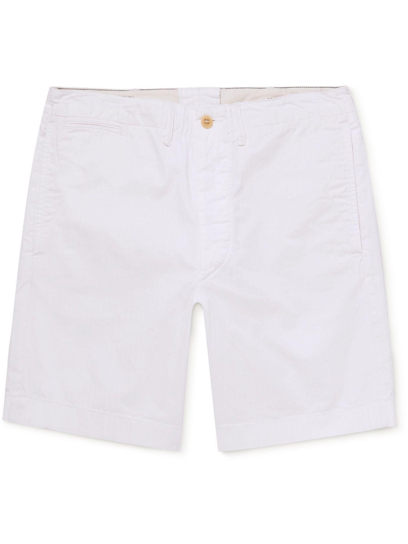 Photo: RRL - Herringbone Cotton Shorts - White
