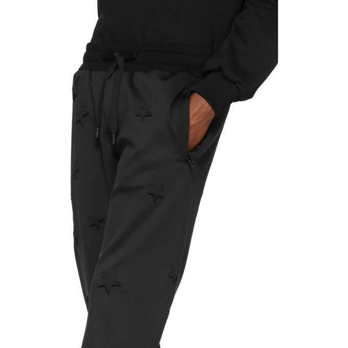 Dolce and Gabbana Black Bonded Millennial Star Sweatpants