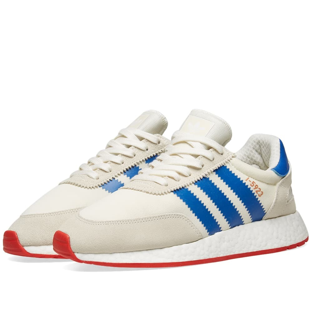 Adidas I-5923 Off White, Blue & Core Red