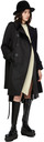 Sacai Off-White & Black Knit Wool & Satin Dress