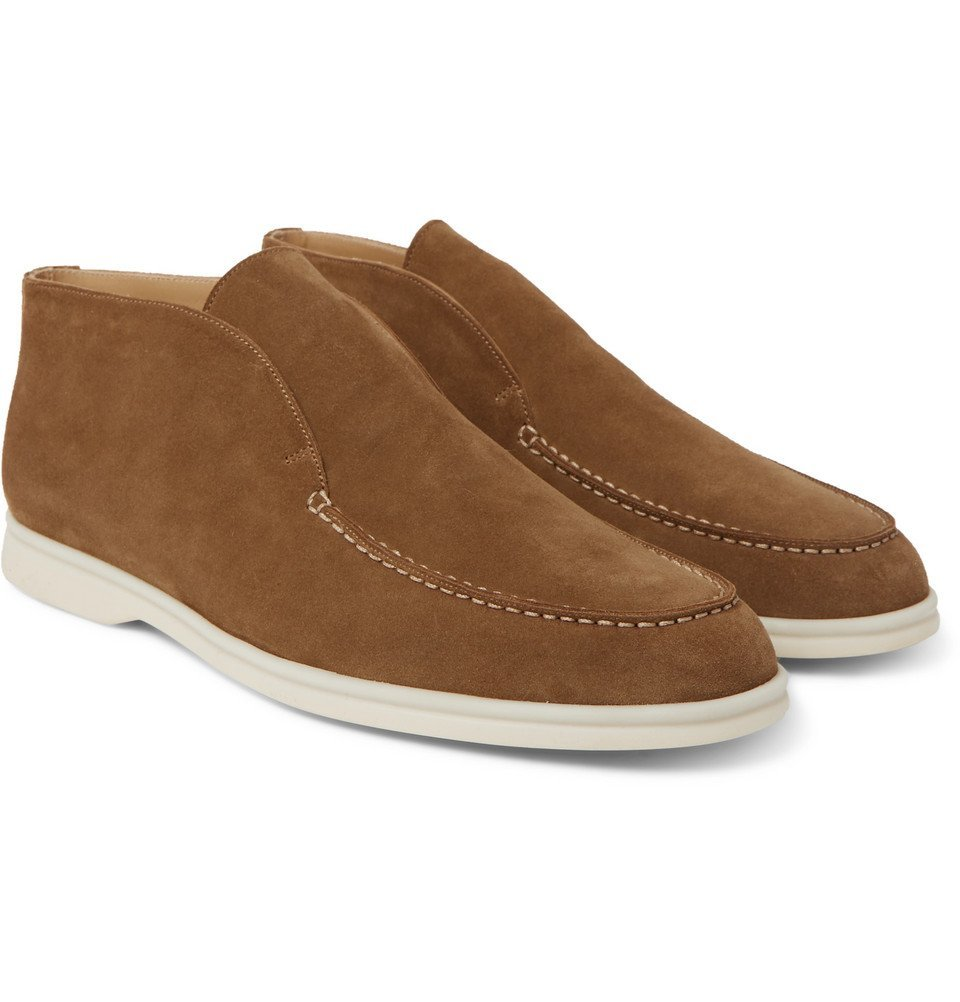 Photo: Loro Piana - Open Walk Suede Boots - Light brown