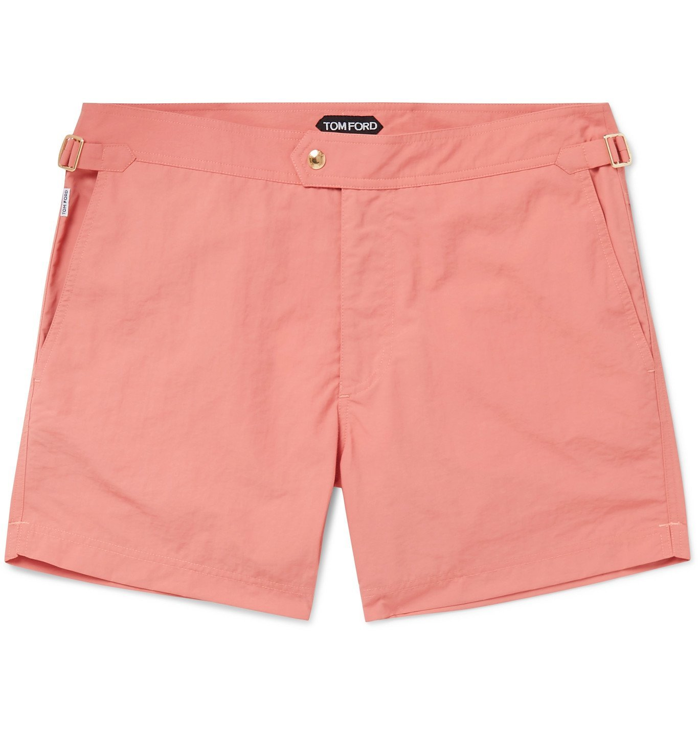 Photo: TOM FORD - Slim-Fit Mid-Length Swim Shorts - Pink