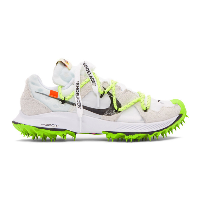 Photo: Nike White Off-White Edition Zoom Terra Kiger 5 Sneakers