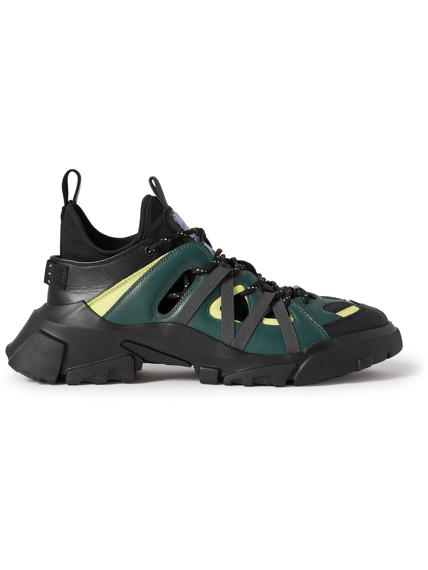 MCQ - Albion 4 Orbyt Descender Panelled Faux Leather Sneakers - Green - EU 40