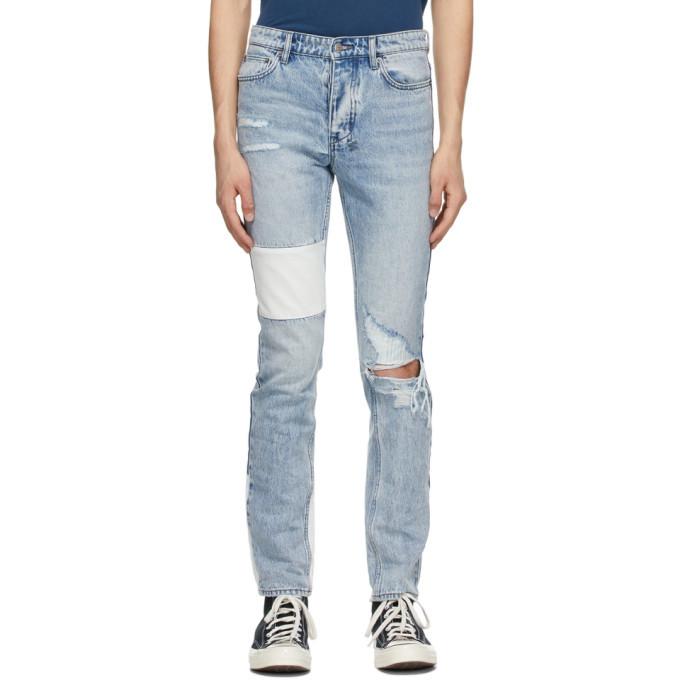 Photo: Ksubi Blue Paneled Chitch Jeans