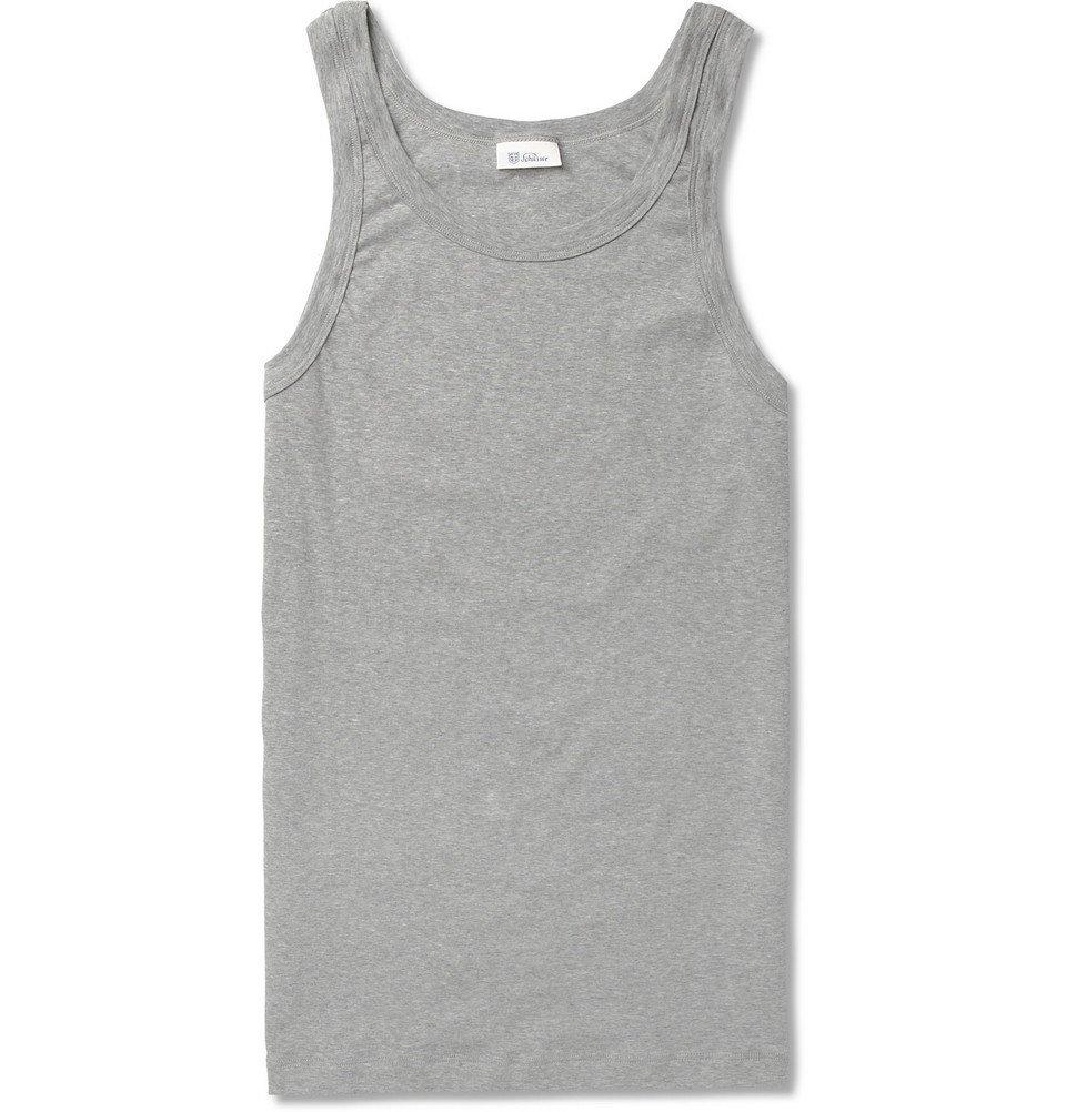 Schiesser - Slim-Fit Stretch-Cotton Jersey Tank Top - Men - Gray