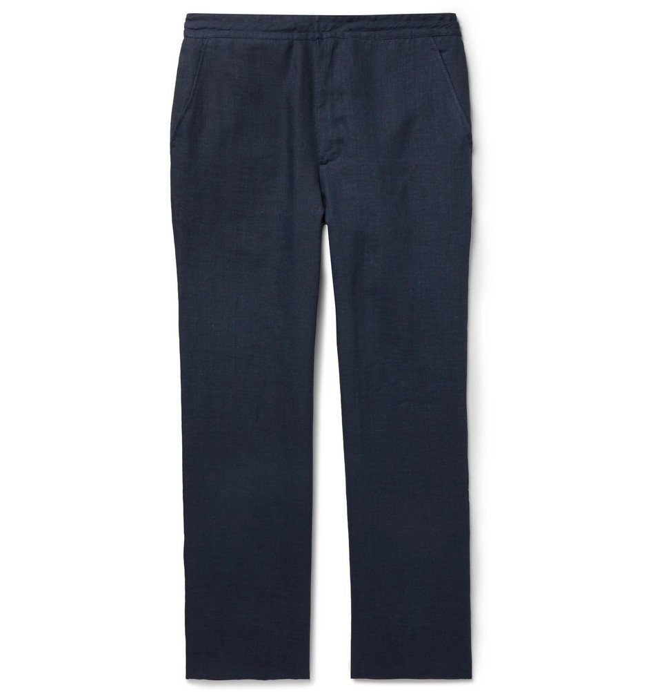 Photo: Brioni - Navy Linen Trousers - Navy