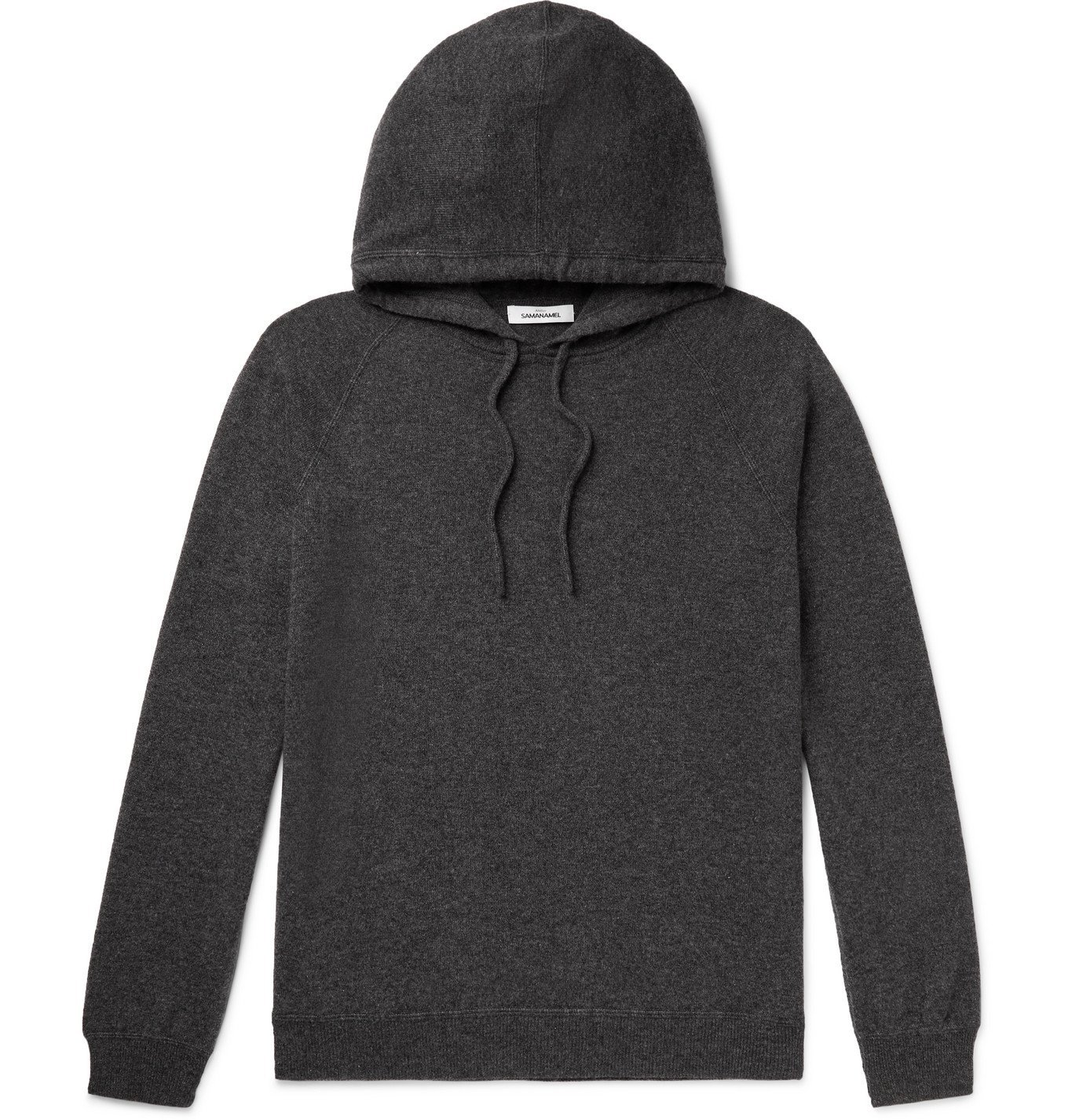 Photo: Saman Amel - Cashmere Hoodie - Gray