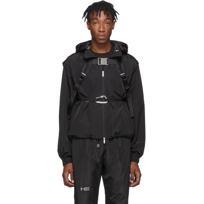 Heliot Emil Black Technical Vest Jacket