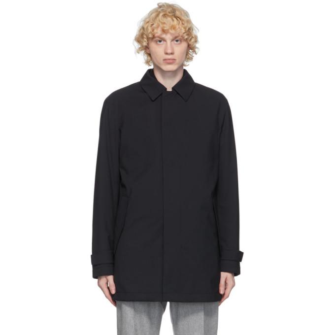 Photo: Ermenegildo Zegna Navy Wool Mac Coat