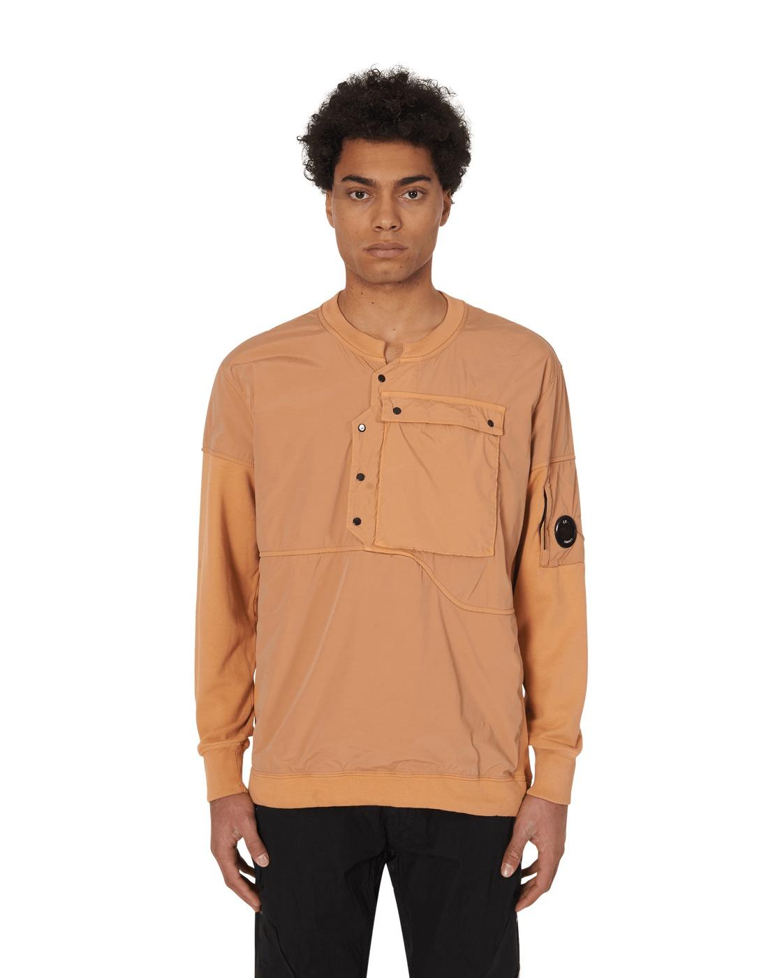 C.P. Company Front Pocket Crewneck Sweatshirt Topaz