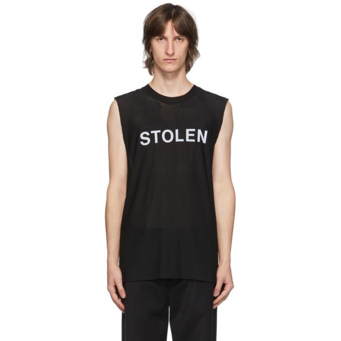 Photo: Stolen Girlfriends Club SSENSE Exclusive Black Razor Sleeveless T-Shirt